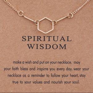 PREVIEW! Spiritual Wisdom Hexagon Charm Necklace